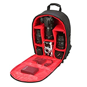 "Camera Bag Camera Backpack Waterproof 16"" X 13"" X 5"" By G-raphy with Tripod Holder for DSLR Cameras , Mirrorless Cameras ,Lens, Flashes and other Accessories"