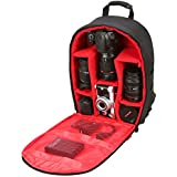 "Camera Bag Camera Backpack Waterproof 16"" X 13"" X 5"" by G-raphy with Tripod Holder for DSLR Cameras, Mirrorless Cameras,Lens, Flashes and Other Accessories"