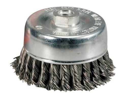 2-3//4 x .020 x 5//8-11 Zenith Industries ZN306016 Stainless Steel Twist Knot Cup Brush