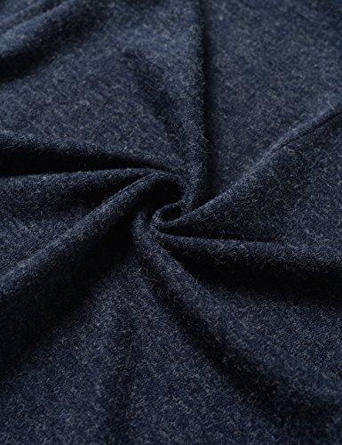 Nearkin Herren Strickjacke, Durchgehend blau NKNKCD1631-NAVY X-Large