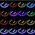 Flexible Light, GLISTENY 5M 3528SMD 300LED Strip Light Strips Lighting Waterproof RGB Colorful + 12V3A Adapter Power + 2x 44Key Remote Color Changing +4PIN For Home Kitchen Party Decoration