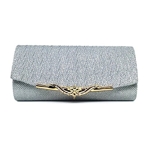 Crossbody Evening Women For Silver Bag Girl Evening Purse Bag Metallic With Party Clutch Clutch Wedding Handbag Decoration Bridal tqwCYpZC