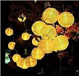 Solar LED Lanterns String Lights, ALED LIGHT 13.2Ft 4M 20 LED Waterproof Outdoor Decorative Stringed LED String Lights Lanterns for Party,Christmas,Garden,Patio,Halloween, Decoration (20LED-13.2ft)