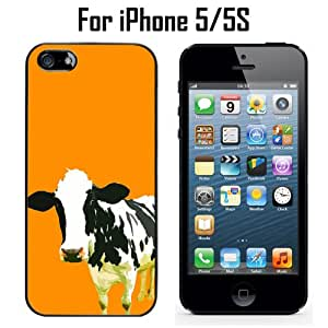 Moo Moo Cow Custom Case/ Cover/Skin *NEW* Case for Apple iPhone 5/5S - Black - Plastic Case (Ships from CA) Custom Protective Case , Design Case-ATT Verizon T-mobile Sprint ,Friendly Packaging - Slim Case
