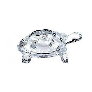 LightaheadChinese FENG Shui Tortoise Turtle Glass Statue Lucky Gift of Good Health