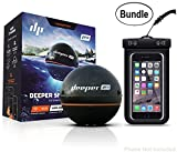 Cheap Deeper Smart Sonar PRO Series – Wi-Fi Connected Wireless, Castable, Portable Smart Fishfinder for iOS & Android Devices & Universal Waterproof CellPhone Case (Bundle)