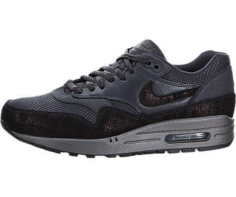 Nike Women's Air Max 1 Prm Anthracite/Mtlc Hematite/Black Running Shoe 8.5 Women US - Nike Air Max 1 Black Women