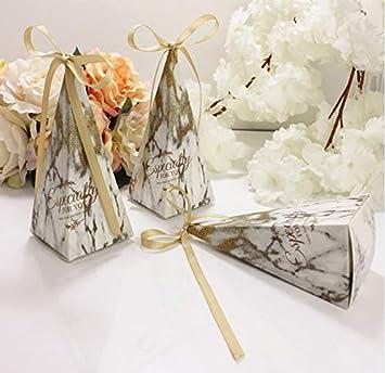 FLOWOW 50 X Nieve triángulo Helado Cono Porta-arroz Caja ...