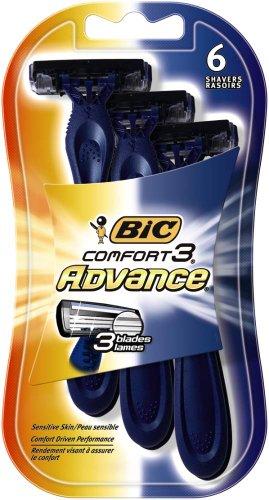 Bic Comfort 3 Advance Razors, 6 Count ()