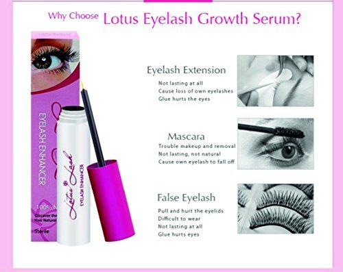 ea668937c23 Amazon.com: Lotus Eyelash Growth Serum FDA Approved 3ml-Best Natural Lash  Enhancing Treatment - Grows Longer, Fuller, Thicker Lashes & Brows in 30  Days!