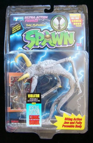 McFarlane Toys 1994 SERIES 1 REPAINT LIGHTNING PACKAGE VIOLATOR FIGURE (Series Toy 1 Spawn Mcfarlane)