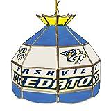 Trademark Gameroom NHL 16 Inch Handmade Tiffany Style Lamp-Nashville Predators