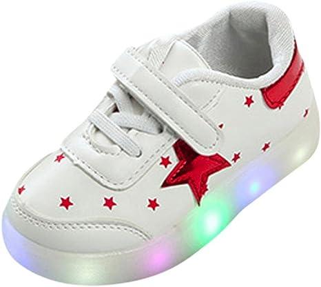 Bebé niño niña LED estrellas tablero zapatillas con luces, Yannerr ...