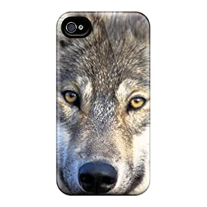Awesome Wolf Flip Case With Fashion Design For Iphone 4/4s