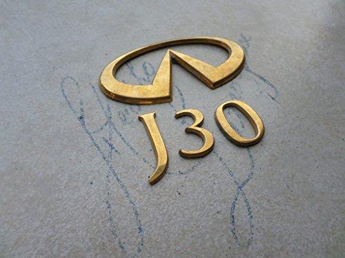 93-98 Infiniti J30 Rear Trunk Original Gold Emblem 84890-10Y00 Logo Nameplate Decal Set (Infiniti Emblem Gold compare prices)