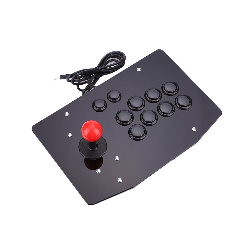 Cewaal USB Arcade Fighting Stick Joystick Gaming Controller Gamepad Video Game For PC