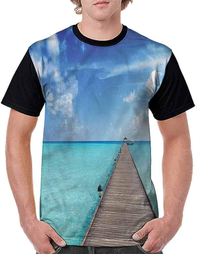 BlountDecor Casual Short Sleeve Graphic Tee Shirts,Beach Summer Holiday Theme Fashion Personality Customization