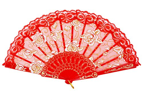 hand fans red - 8