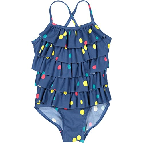 Polarn O. Pyret Tiered Ruffle Tank Swimsuit (Baby) - 6-12 Months/Ensign Blue (Ruffle Swimsuit Tank)