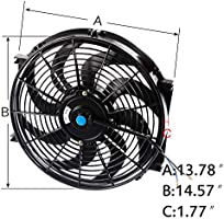 """14/"""" Fan For 64-66 FORD MUSTANG//SHELBY V8 L6 MT//AT Aluminum Racing Radiator"""