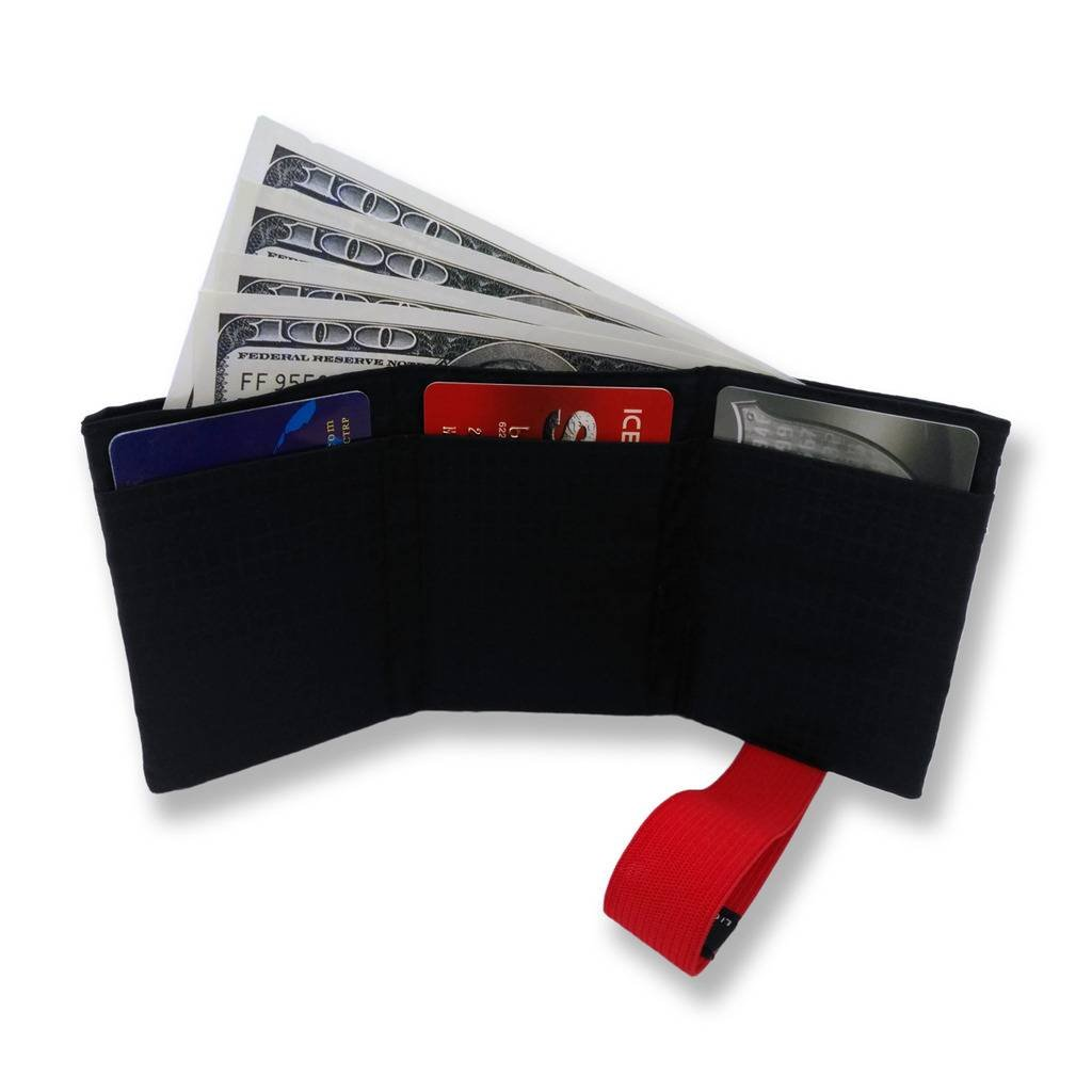 Ultra Slim Men's Nylon Trifold Wallet RFID Blocking - Hold up to 12 Credit Cards