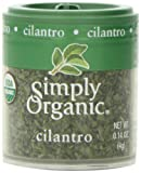 Simply Organic Cilantro Leaf Cut & Sifted Certified Organic, 0.14-Ounce Containers (Pack of 6)