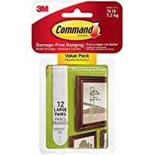 Command Picture & Frame Hanging Strips ZN1QMY , Large, 12 Pairs