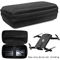 WGear Protective Case for Holy Stone HS160 Shadow FPV RC Drone, Elastic strap to secure HS160, mesh pocket for cable and back up batteries, Strong light weight hard case, detachable wrist strap