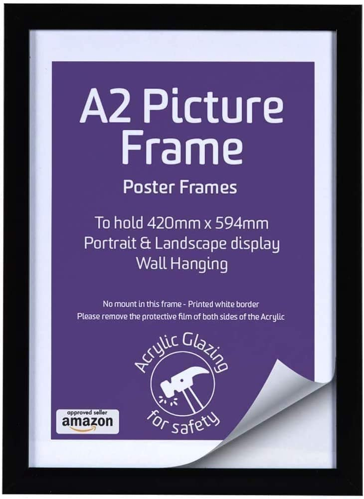 A2 Poster A2 Natural Picture frame Large Poster Frame A2 POSTER Frame *NO GLASS* 42 cm x 59.4 cm Picture Frame Art Frame international