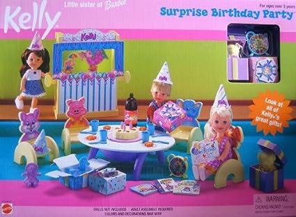 Amazon.com: Barbie Kelly Fiesta de cumpleaños sorpresa ...