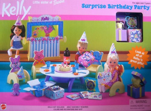 Barbie Kelly Surprise Birthday Party Playset (1999) from Barbie