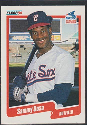 (1990 Fleer Sammy Sosa White Sox Rookie Baseball Card #548)
