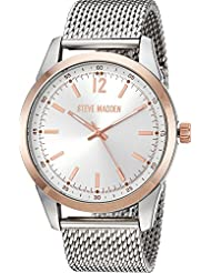 Steve Madden Mens Dial Mesh Band Watch Rose One Size