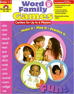 Word Family Games: Centers for Up to 6 Players, Level D