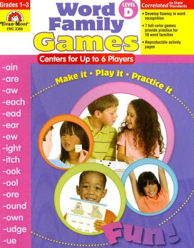 Download Word Family Games: Centers for Up to 6 Players, Level D pdf