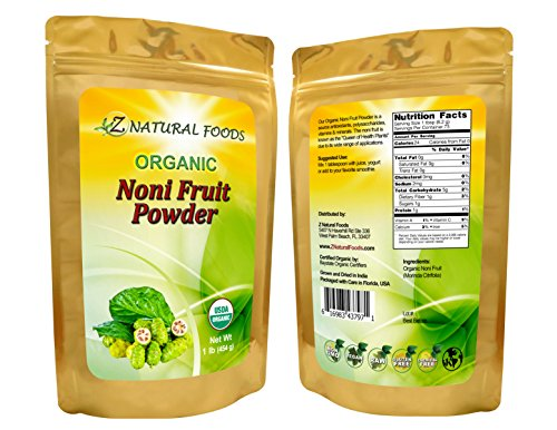 USDA Certified Organic Fresh Noni Fruit Powder (Bulk) - Superfood, Non-GMO, Raw, Pure (5 lbs) by Z Natural Foods