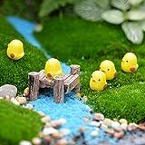 50pcs Mini Yellow Chicken Miniature Garden Ornament Micro Landscape Fairy Garden Decor