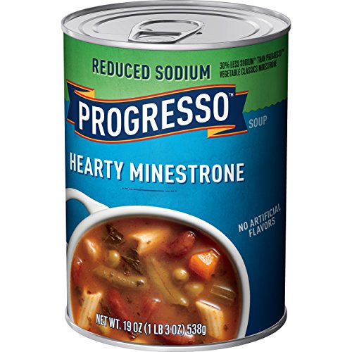 Progresso Heart Healthy Soup, Minestrone, 19-Ounce Cans (Pack of 12)