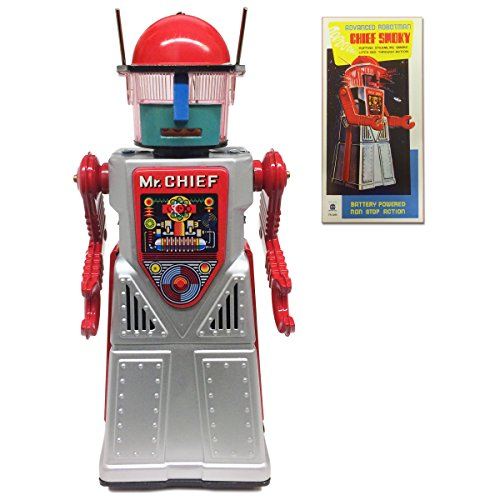 Off the Wall Toys Vintage Style Collectible Chief Smoky Robot - Silver Robotman by Off the Wall Toys (Image #5)