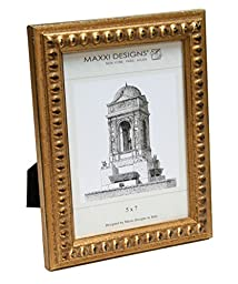 Maxxi Designs C28002-57 Arezzo Antique Gold frame with Beads, 5\