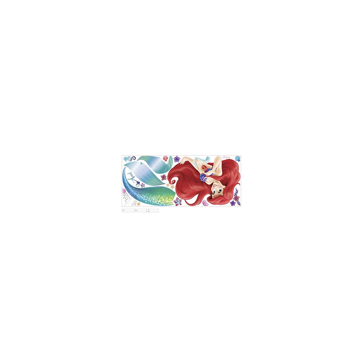 RoomMates The Little Mermaid Peel And Stick Giant Wall Decals – RMK2360GM