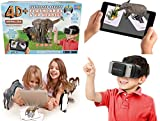 4D Animal Zoo Augmented Reality Flashcards & Virtual Reality Headset - Includes a Utopia 360 x VR Headset and 31 Interactive Cards for an Immersive and Educational 4D Experience.