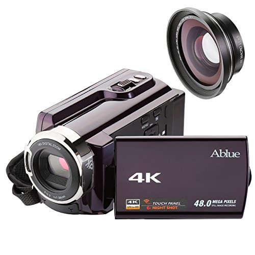 Camcorders, Ablue 4K Ultra-HD Portable 30FPS Wifi Digital Vi