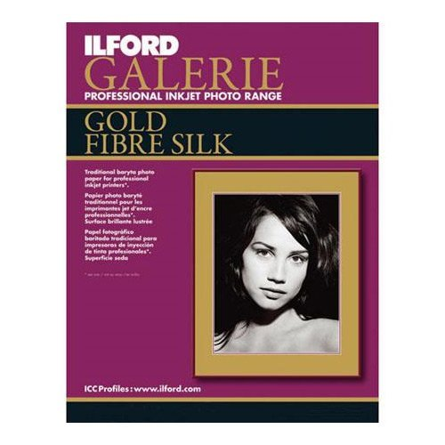 (ILFORD Galerie 8.5 x 11-Inches, 10 Sheet, Gold Fibre Silk (115 4038))