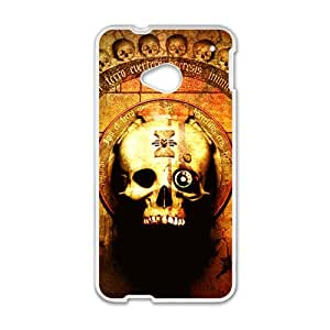 Skull Pattern Custom Protective Hard Phone Cae For HTC One M7