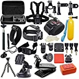 Kit For GoPro Accessories Session Hero 3-4-5 Go Pro sj4000 sj5000 Equipment Case Bundle Bag Pack - Selfie Stick Pole Tripod Gear Grip Mount Suction Cup With Waterproof case; 42 Pieces in One Bag