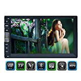 Double 2 Din Universal Car MP5 player headunit 7 inch Bluetooth Stereo FM Radio/MP5/MP3/USB/AUX/AV Input car radio support video with Remote Control in dash multi-touch screen autoradio