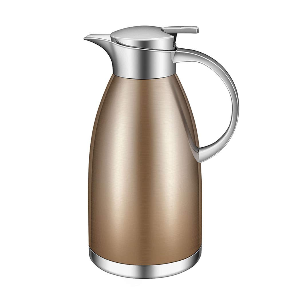 WLHW Trinkflaschen Isolierkanne, 2.5L Flasche Isolierte Doppelwand Edelstahl für Tee-Kaffee-heiße kalte Getränke