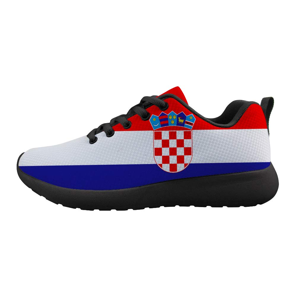 Owaheson Cushioning Sneaker Trail Running Shoe Mens Womens Croatia Flag