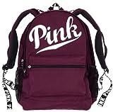 Victoria Secret Pink Backpack Best Deals - Victoria's Secret PINK Campus Backpack Black Orchid White Logo